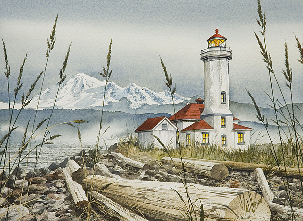 Point Wilson Lighthouse Print by James Williamson
