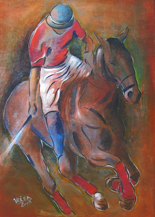 Polo Player Print by Vered Thalmeier