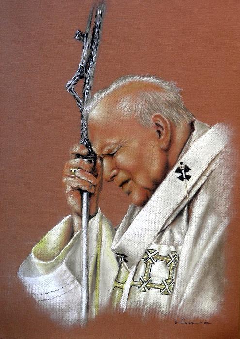 Pope John Paul. 2nd. Print by Tony Calleja