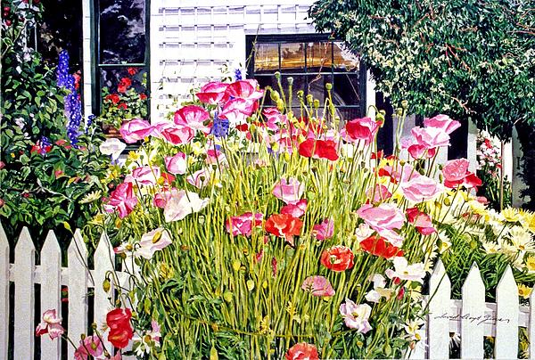 Poppies On Niagara Street Print by David Lloyd Glover
