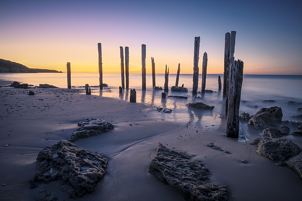 Port Willunga Australia  city images : Port Willunga Afterglow Print by Ray Warren