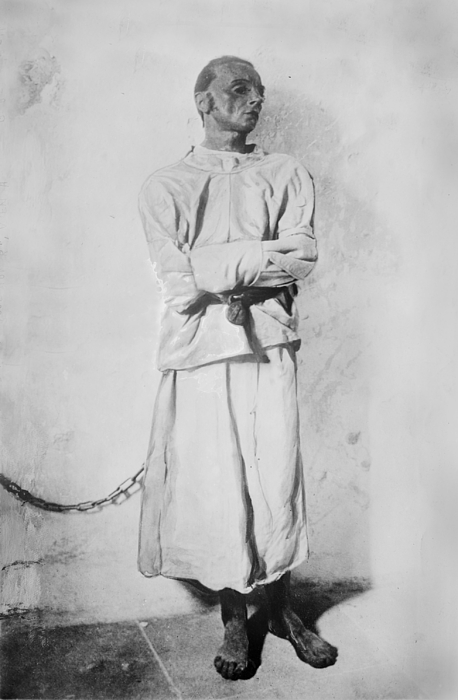 Portrait Of A Mentally Insane Man Print by Everett
