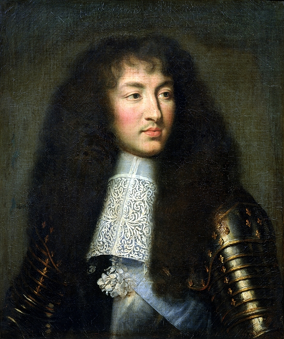 Portrait Of Louis Xiv Print by Charles Le Brun