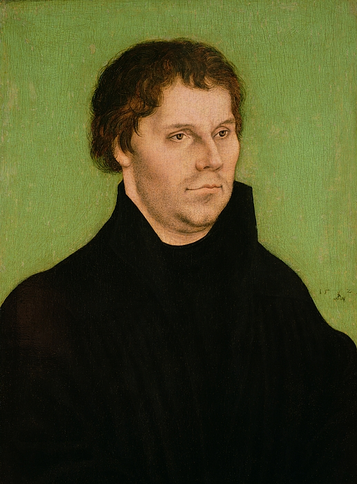 Portrait Of Martin Luther Print by Lucas Cranach the Elder