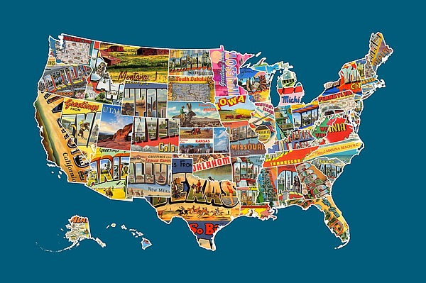 ... Of The United States Vintage Usa All 50 States Map by Design Turnpike