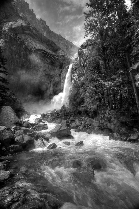 Power Of Water Print by Edward Kreis