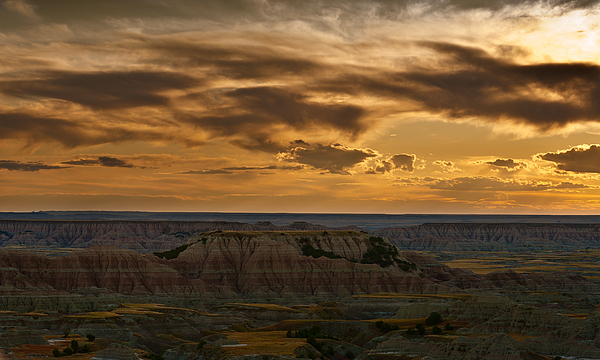 Prairie Wind Overlook Badlands South Dakota Print by Steve Gadomski