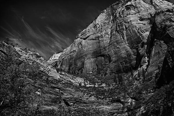 Precipice At Zion National Park Lll Print by Hideaki Sakurai