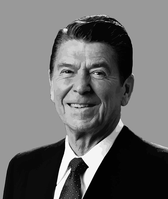 President Reagan Print by War Is Hell Store