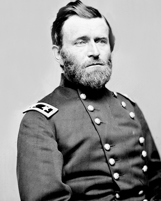 President Ulysses S Grant In Uniform Print by International  Images