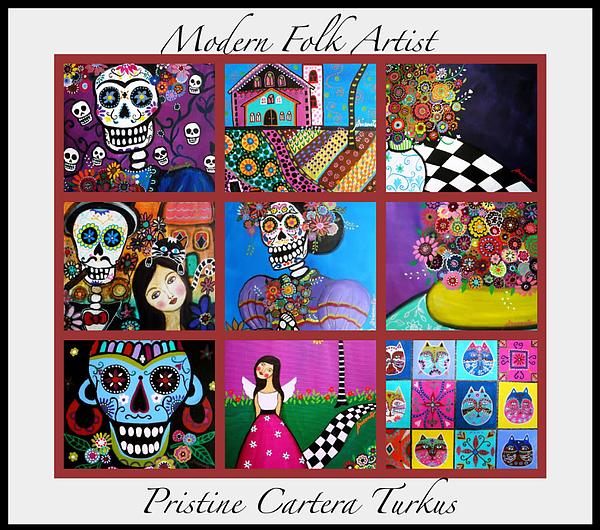 Prisarts Paintings Print by Pristine Cartera Turkus