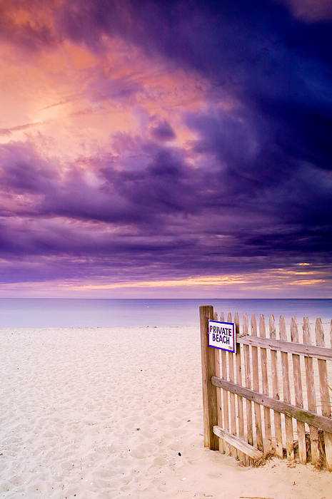 Private Beach Cape Cod Print by Matt Suess