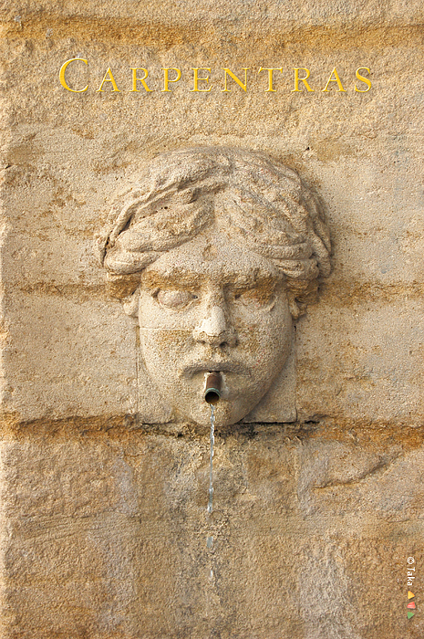 Provence Fountain 1 Carpentras Print by Philippe Taka