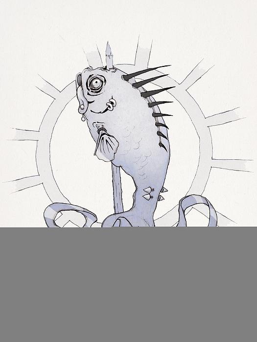 Punk Fish Print by Ethan Harris
