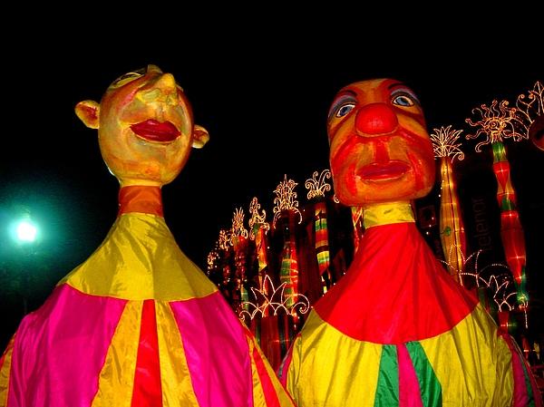 Puppets Print by Fareeha Khawaja