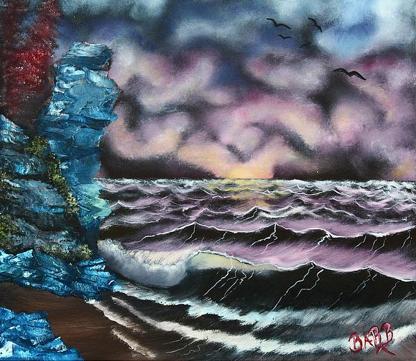 Purple Rising Print by Barbara Teller