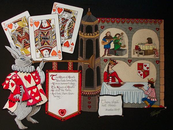 Queen Of Hearts Print by Victoria Heryet