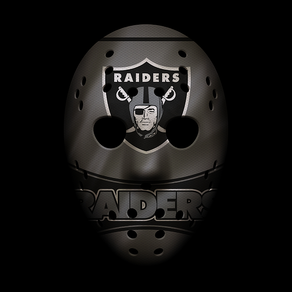 Raiders War Mask 2 Print by Joe Hamilton