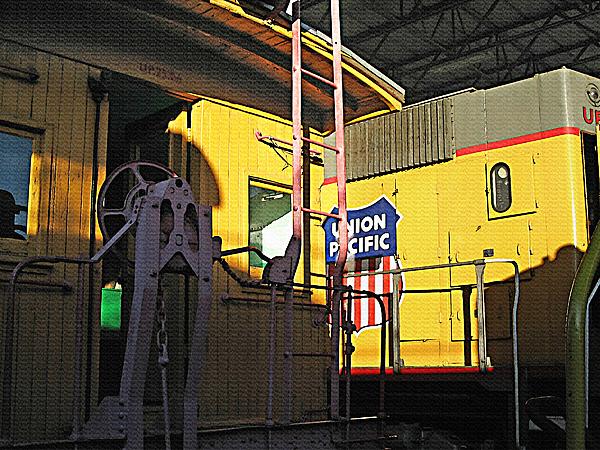 Railroad Museum 5 Print by Steve Ohlsen