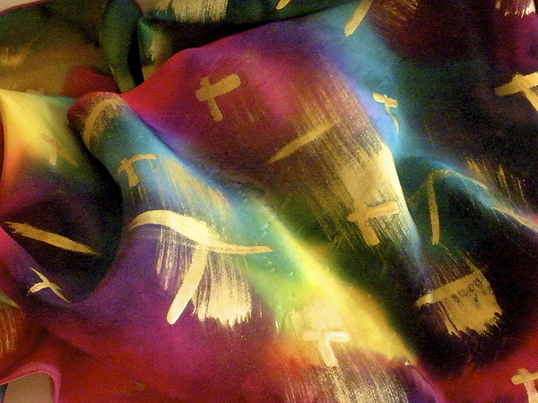 Rainbow Lights Print by Joanna White