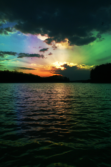 Rainbow Sunset Print by Adam LeCroy