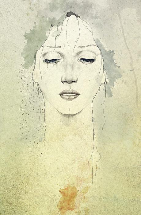 Raining Print by Diego Fernandez