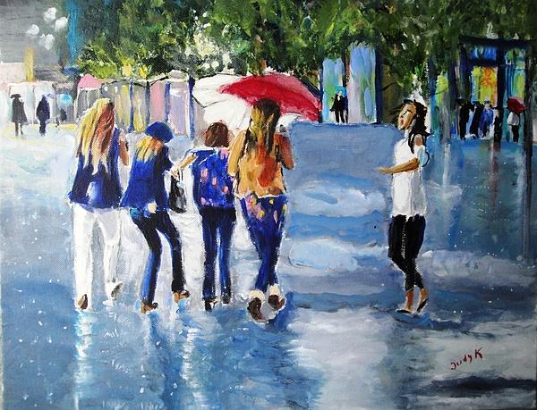 Rainy Days And Mondays Print by Judy Kay