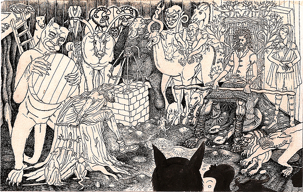 Rathbone Meets The Forest Lord Print by Al Goldfarb