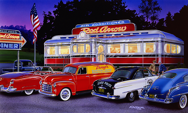 Red Arrow Diner Print by Bruce Kaiser