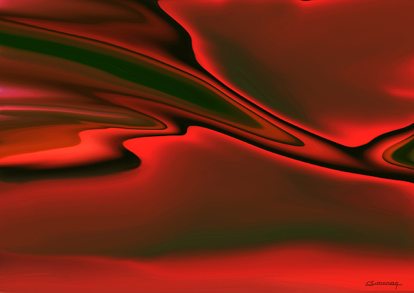 Red Clouds Print by Christian Simonian