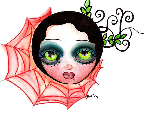Red Spider Web Print by  Abril Andrade Griffith