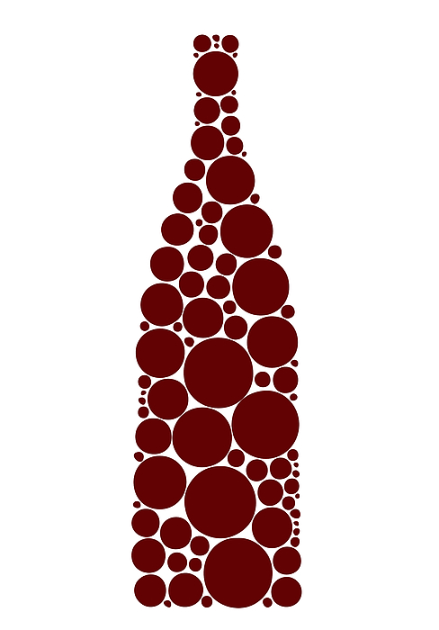 Red Wine Bottle Print by Frank Tschakert