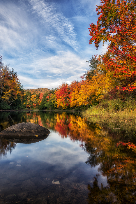 Reflections Of Fall Print by Mark Papke