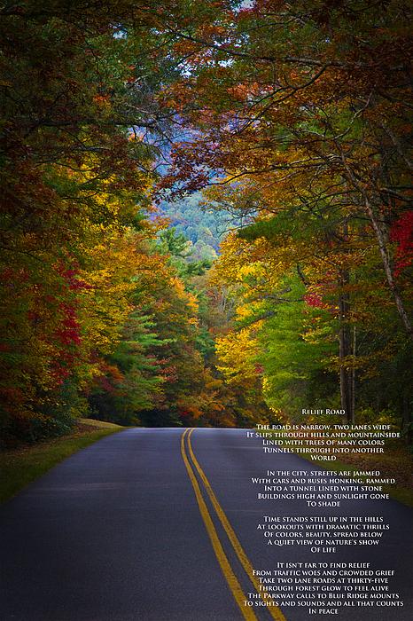 Relief Road  Blue Ridge Parkway Print by John Haldane