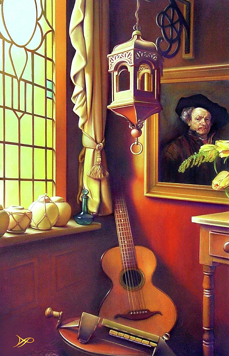 Rembrandt's Hurdy-gurdy Print by Patrick Anthony Pierson