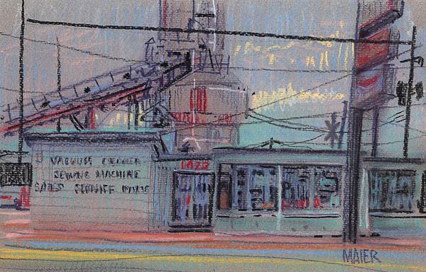 Repair Shop Print by Donald Maier