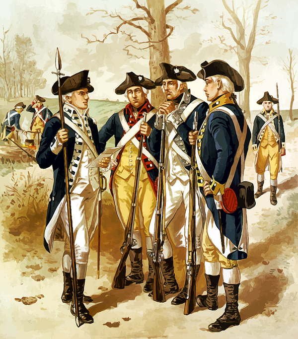 Revolutionary War Infantry Print by War Is Hell Store