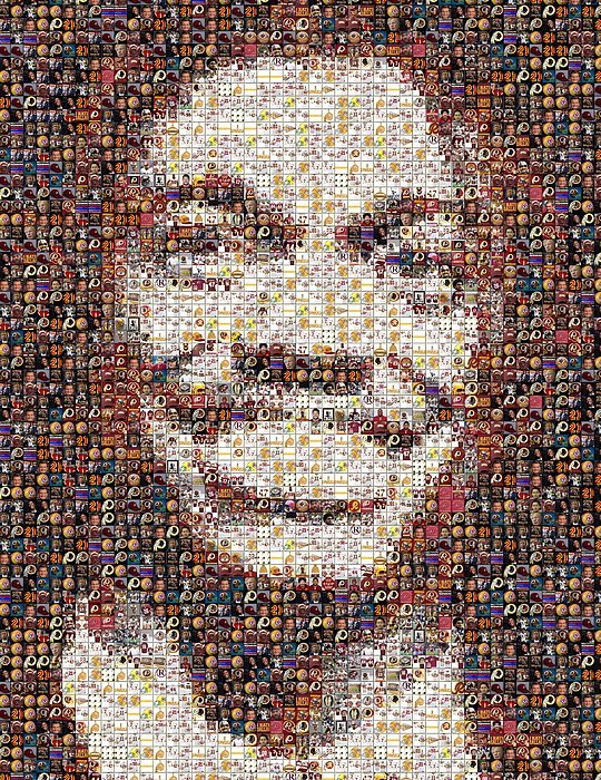 Rg3 Redskins History Mosaic Print by Paul Van Scott