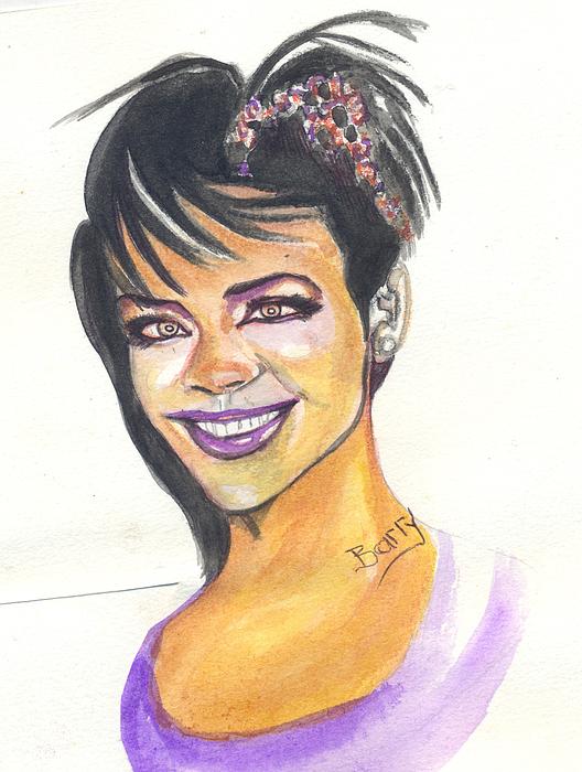 Rihanna Print by Emmanuel Baliyanga