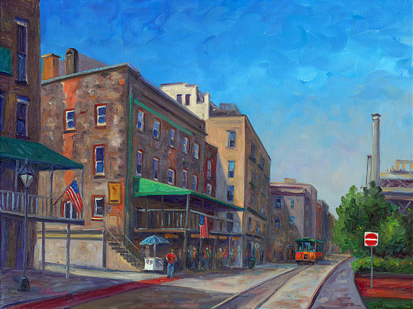 River Street Savannah Print by Jeff Pittman