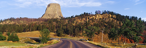Road To Devils Tower Crossing Belle Fourche River Print by Jeremy Woodhouse