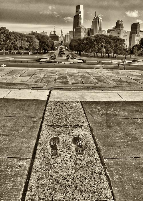 Rocky's Footprints Print by Jack Paolini