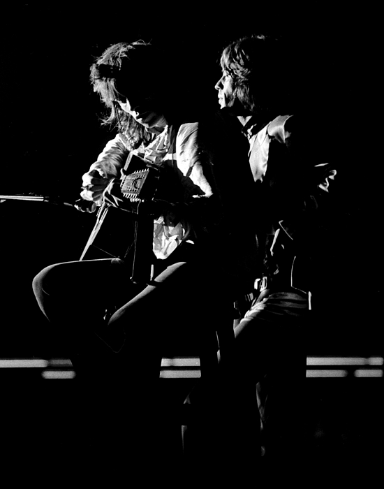 Rolling Stones Mick And Keith 1970 Print by Chris Walter