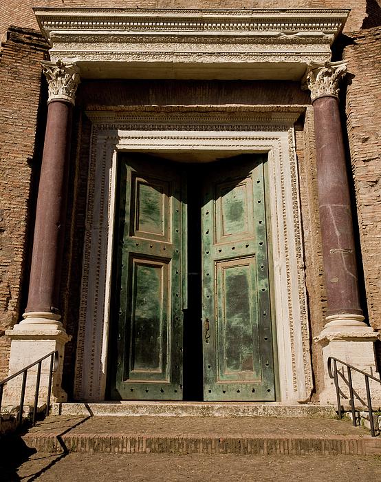 Roman Doors Print by Dale Halbur