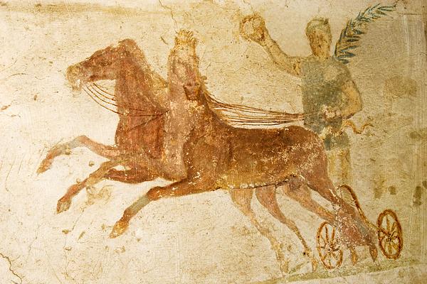 Roman Fresco, Ostia Antica Print by Sheila Terry
