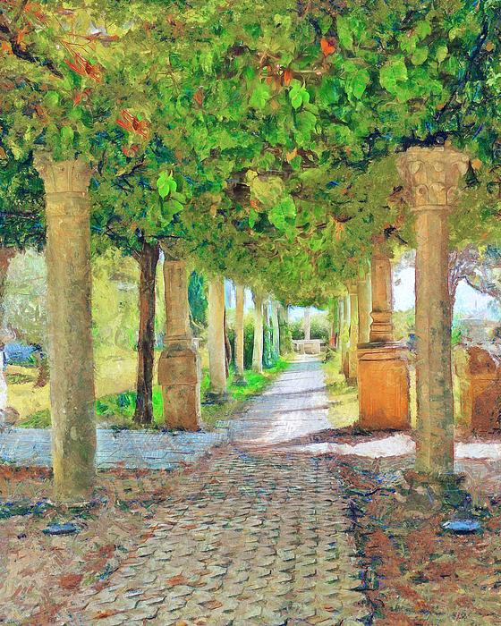 Roman Garden Near Split Croatia By Judy Coggin