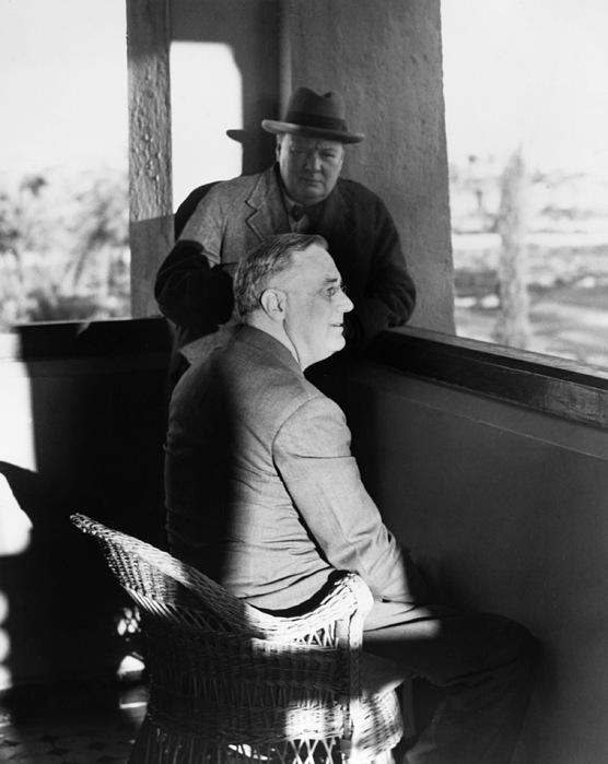 Roosevelt And Churchill Print by Granger