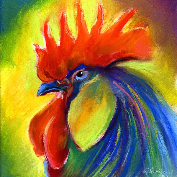 Rooster Painting Print by Svetlana Novikova