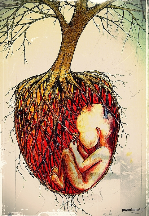 Roots Of Mother Nature Print by Paulo Zerbato