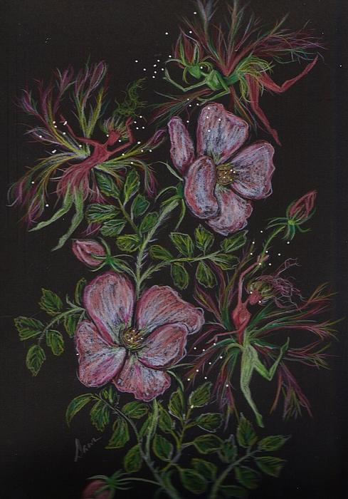 Roses Run Amok Print by Dawn Fairies